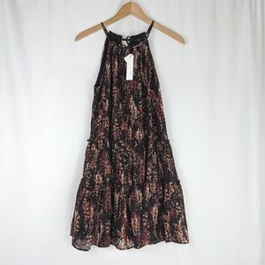 Anthropologie DREW Floral Ruffle Tiered Tent Dress